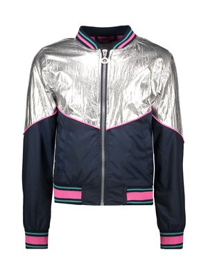 B.Nosy Girls 2-piece jacket with piping - Silver