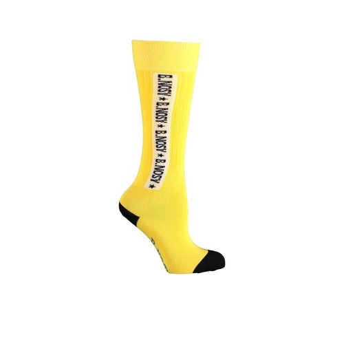 B.Nosy Girls socks B.starstruck with logo - Lemon