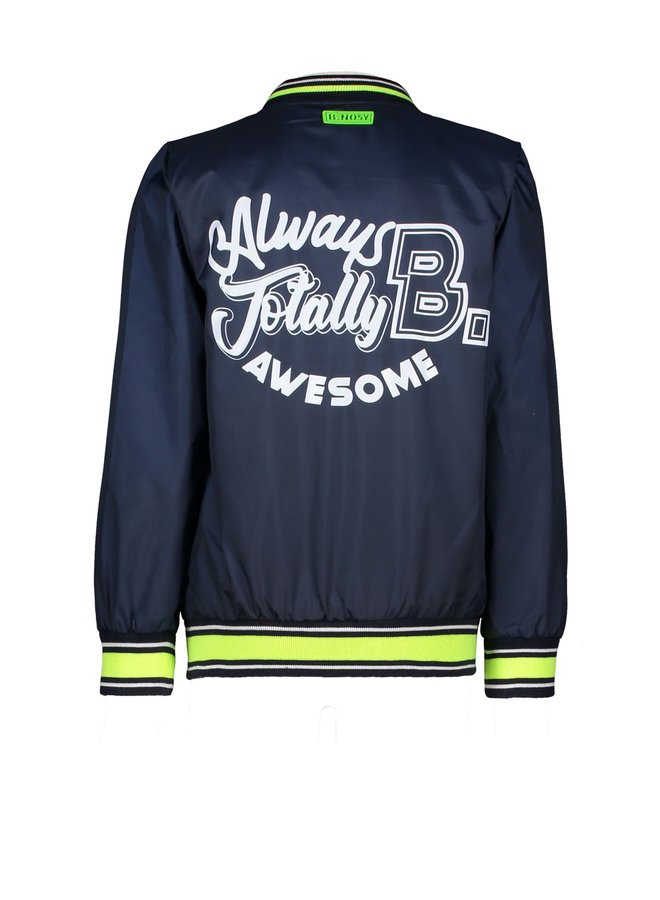 Boys jacket with patch on chest - Oxford blue