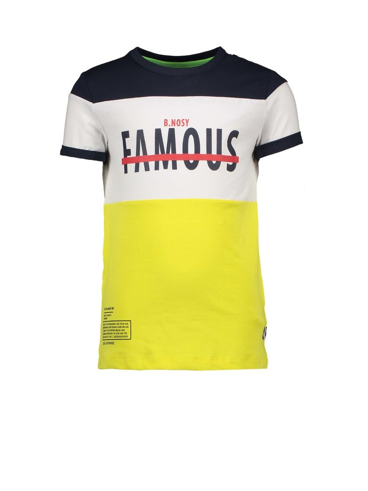 B.Nosy Boys shirt cut and sew strokes - Lemon