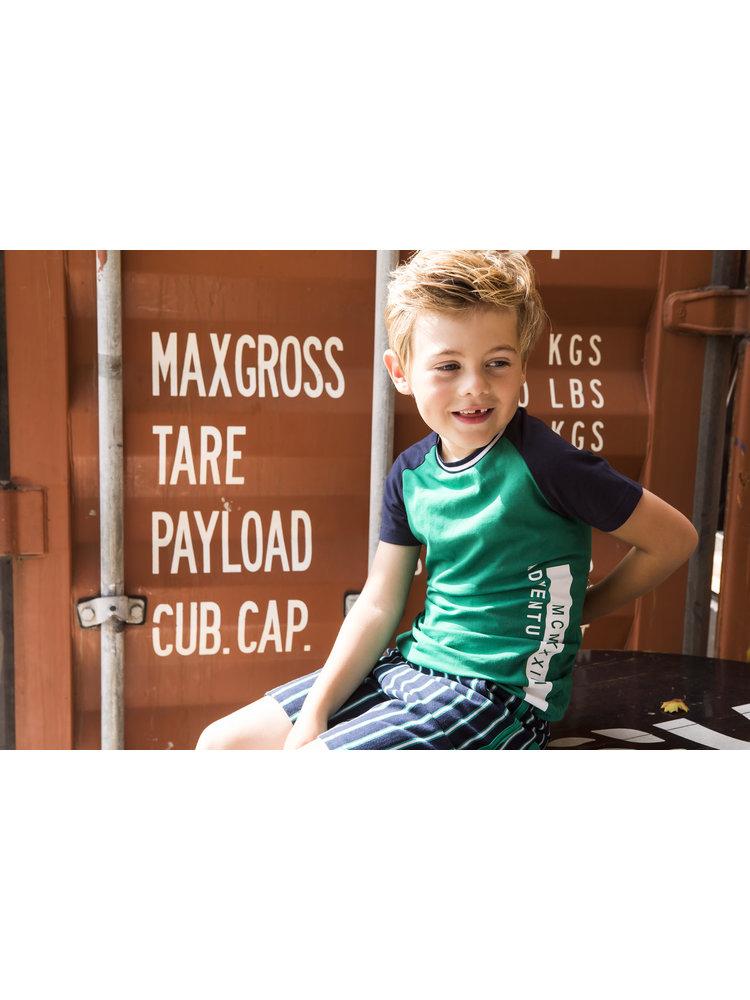 B.Nosy Boys shirt with contrast raglan sleeves - Jade green
