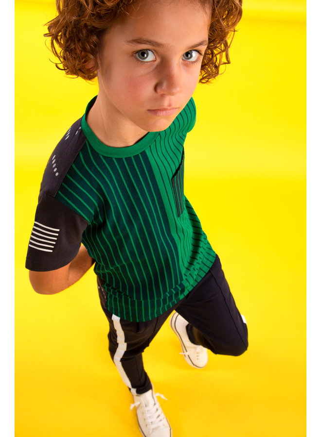 Boys shirt with YDS front panel - Jade green