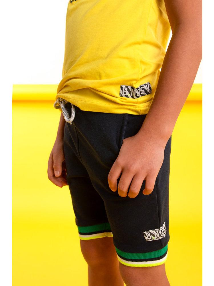 B.Nosy Boys shorts with multicolor rib at hem - Oxford blue