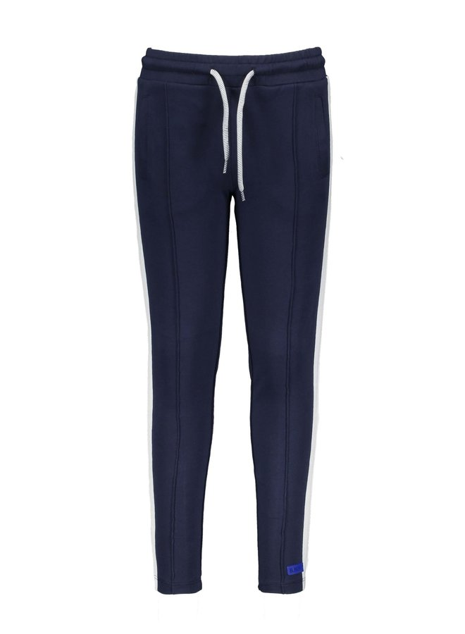 Boys sweat pants with tape on side seam - Oxford blue