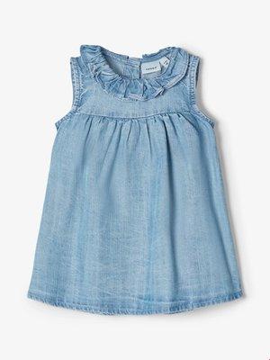 Name It Baby Batytte - Denim Dress - Light Blue Denim