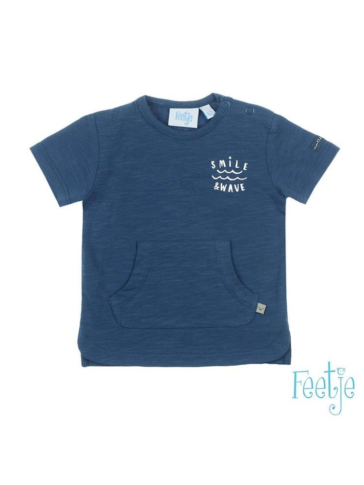 Feetje T-shirt - Smile & Wave - Marine