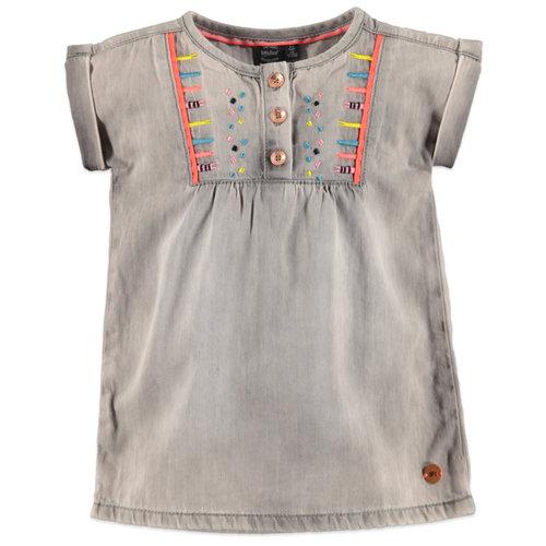 Babyface Girls dress - Light grey denim
