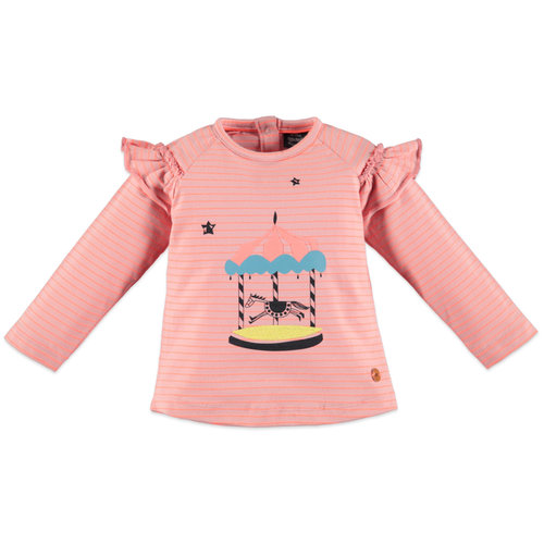 Babyface Girls t-shirt long sleeve - Sweet pink