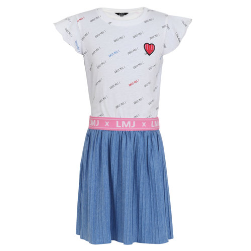 Little Miss Juliette Dress heart - Blue