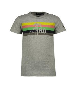 Like Flo Flo boys grey melee tee with rainbow - Grey melee