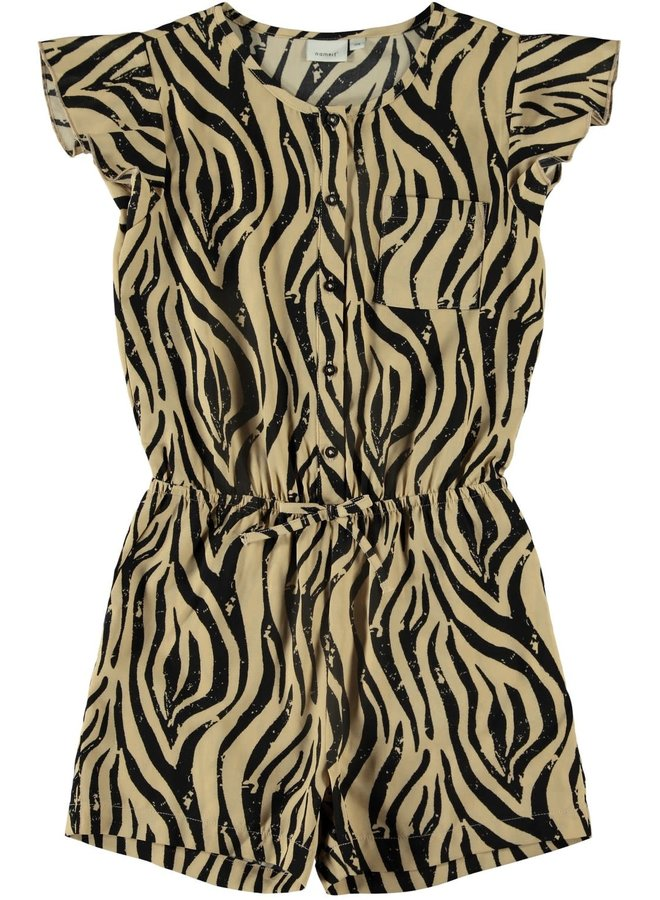 Kinaya - Playsuit - Black Zebra