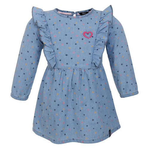 Beebielove Dress - Ruffle - Denim