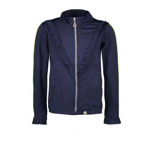 B.Nosy Girls sweat top with V-shaped ruffle - Space Blue