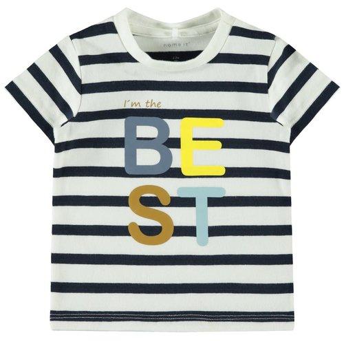Name It Baby Fepo - T-shirt - Dark Sapphire Striped