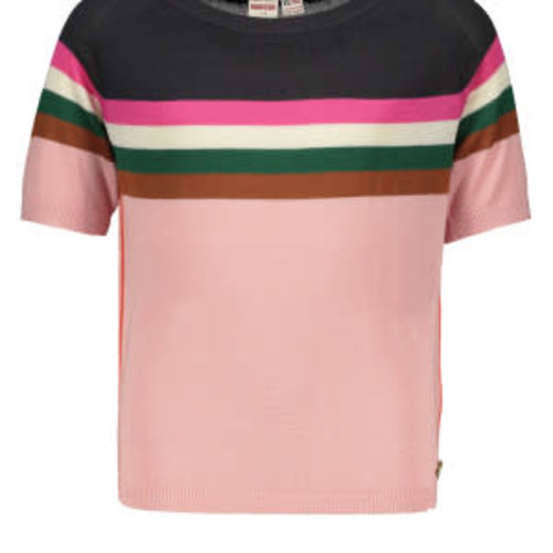 Street Called Madison Luna striped knitted top - Smithy