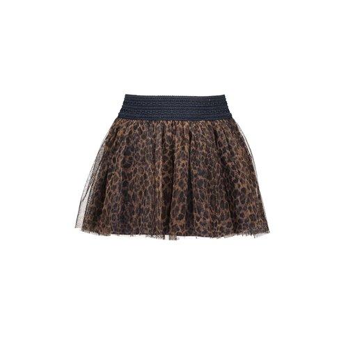 B.Nosy Girls printed leo mesh skirt - Soft leo