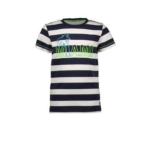 B.Nosy Boys YDS short sleeve with embroidery on chest - Big stripe blue