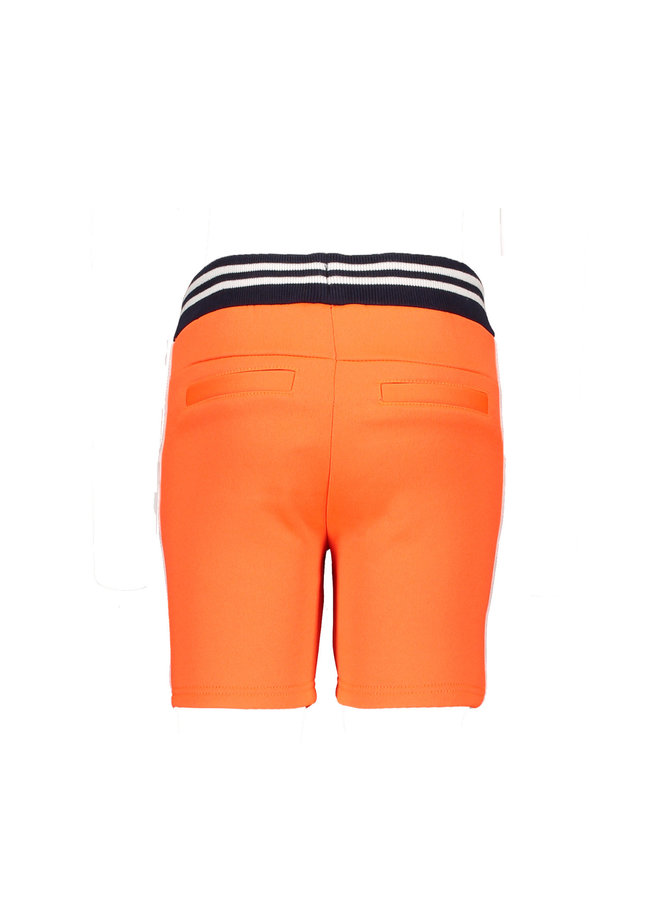 Boys short with tape on side seam - Neon red