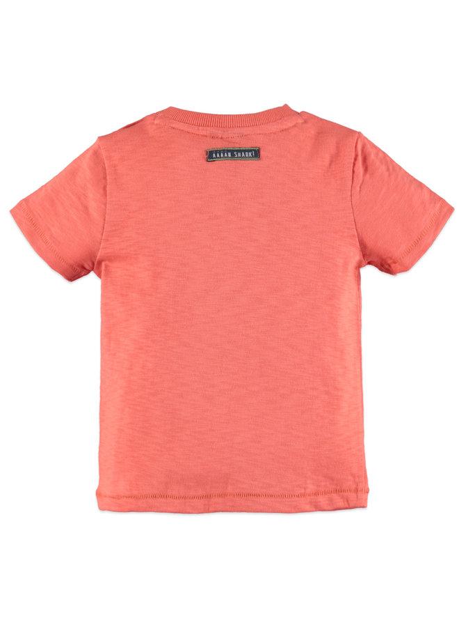 Boys t-shirt short sleeve - Papaya - Surf's up