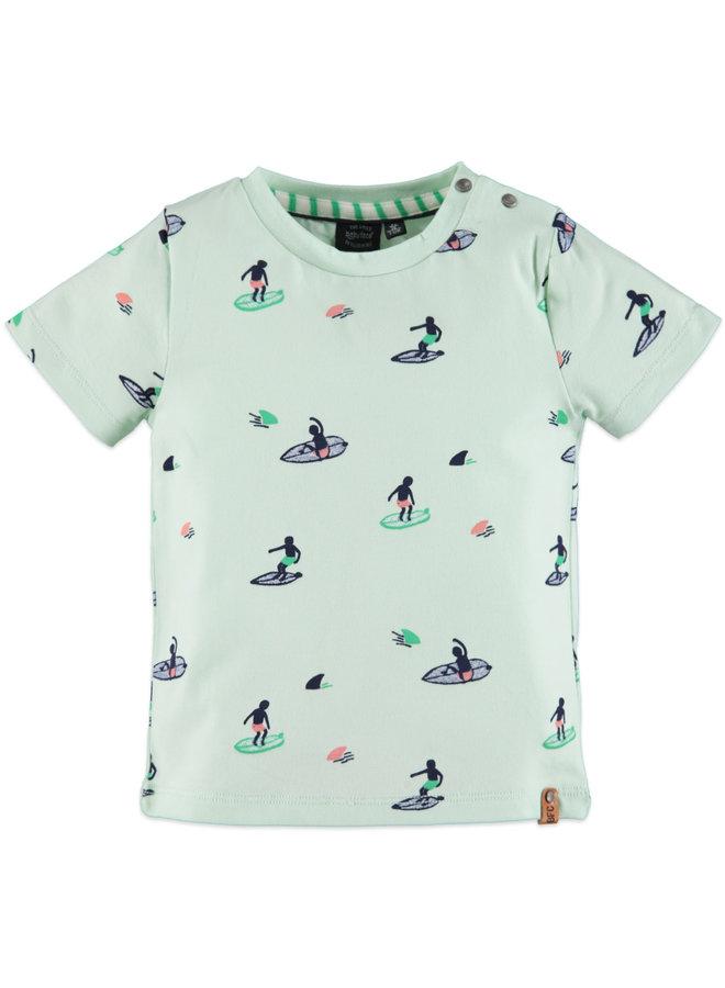 Boys t-shirt short sleeve - Fresh Mint - AOP