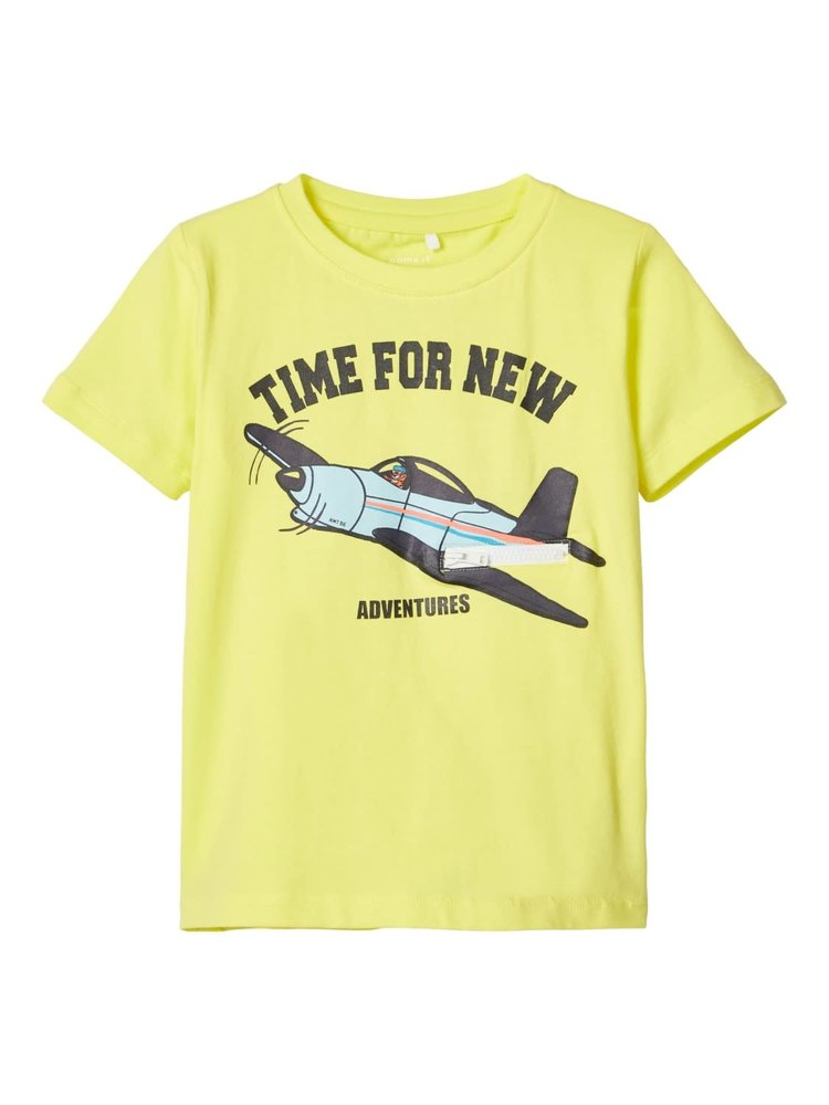 Name It Mini Funo Ss Top - T-shirt - Limelight