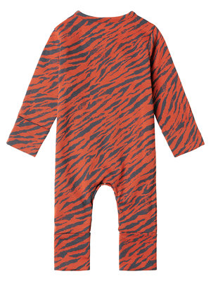 Noppies Playsuit ls Solimoas AOP - Ginger Spice