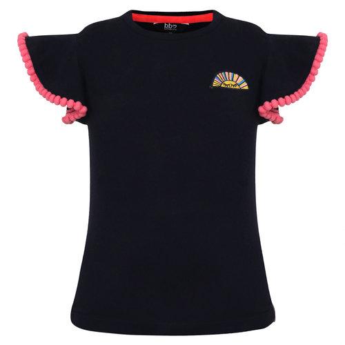Beebielove Shirt Ruffle - Navy