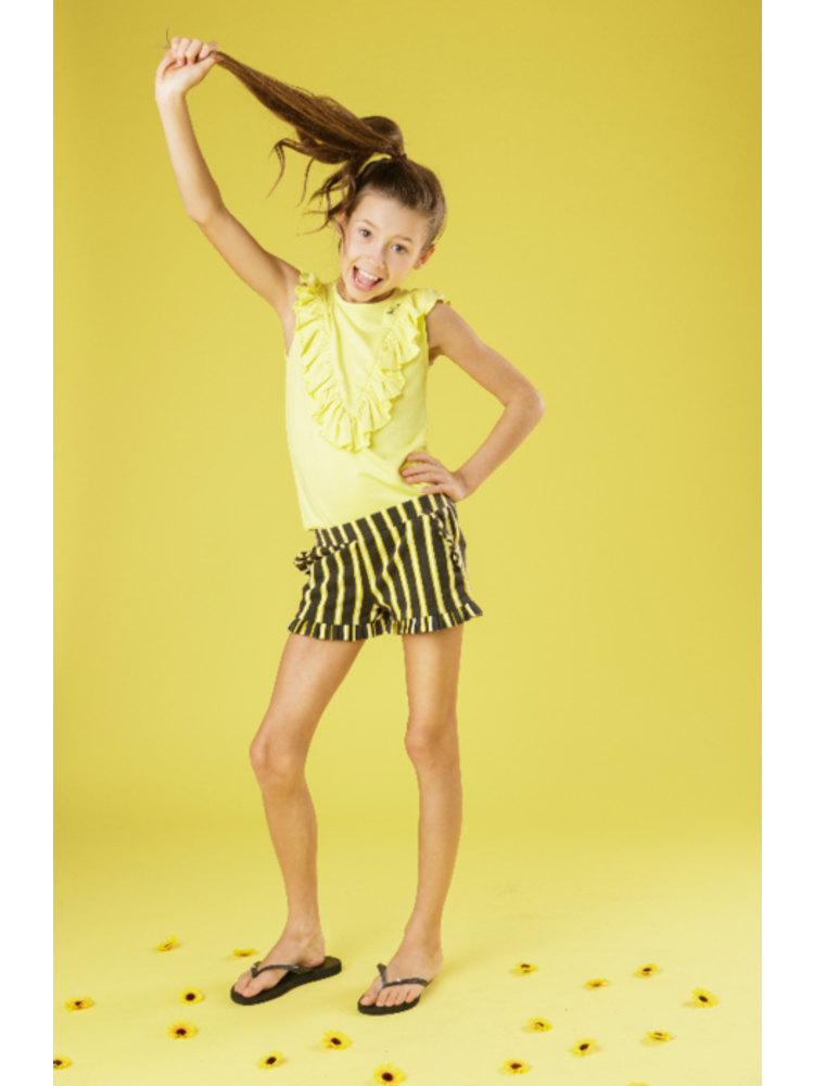 Little Miss Juliette Top Ruffle - Yellow