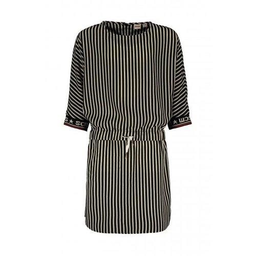 Street Called Madison Luna shiny stripe dress - Sunset