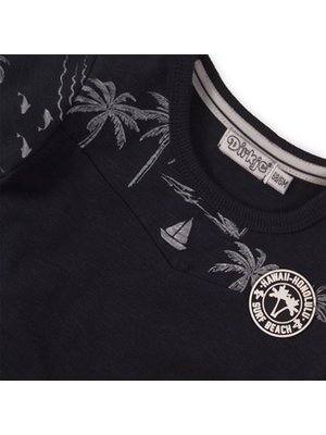 Dirkje Baby t-shirt - Navy + aop
