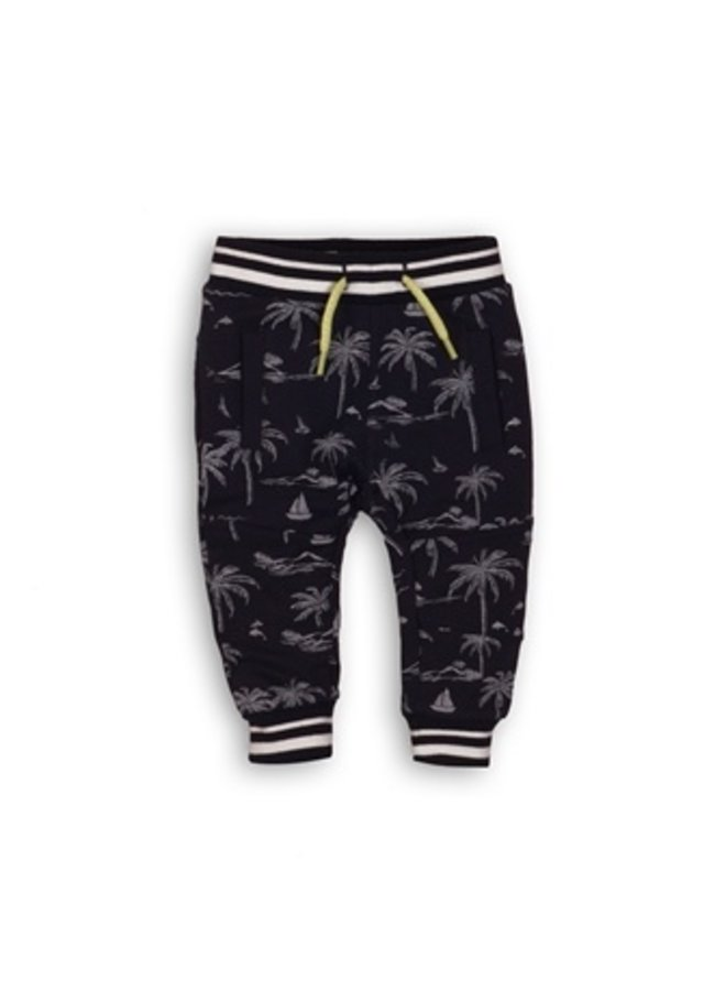 Baby jogging trousers - Navy + aop