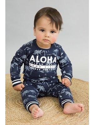 Dirkje Baby sweater - Navy + aop