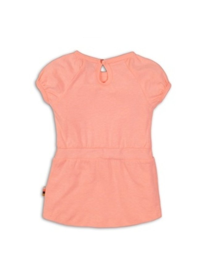 Baby dress - Light neon coral
