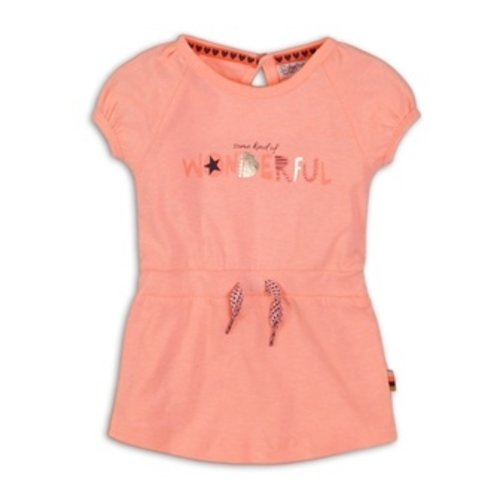 Dirkje Baby dress - Light neon coral
