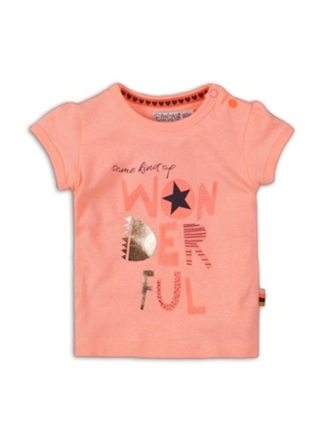 Baby t-shirt - Light neon coral