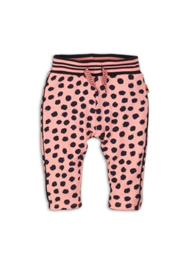 Baby trousers - Light coral + aop
