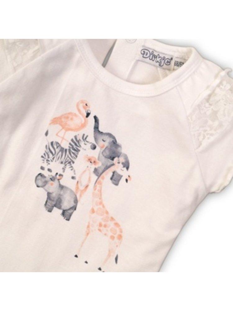 Dirkje Baby t-shirt - Black with white dots