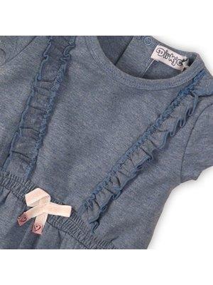 Dirkje Baby dress - Light blue melee