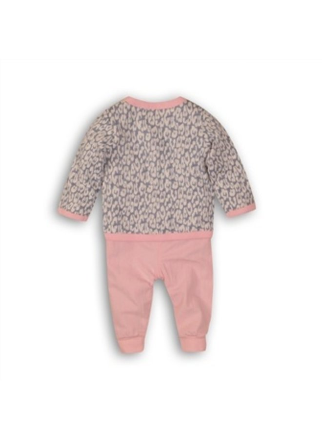 3 pce babysuit - light blue + light pink + white