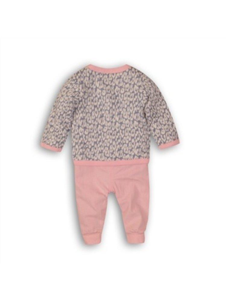 Dirkje 3 pce babysuit - light blue + light pink + white