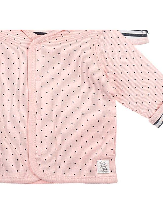 Omkeerbaar jasje met capuchon - Dots