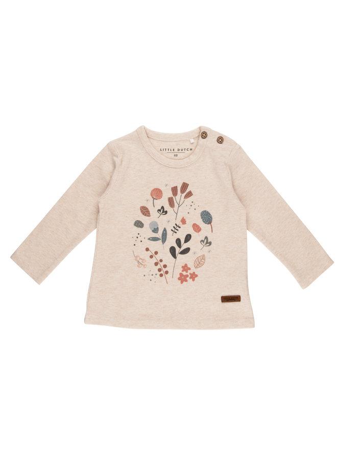 T-Shirt lange mouw met print - Spring Flowers
