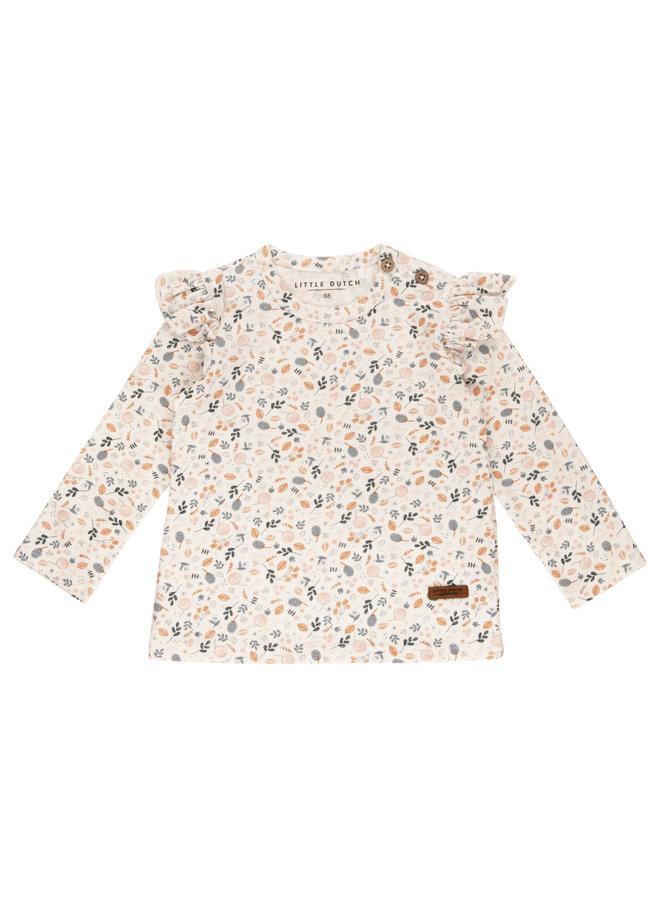T-Shirt all-over print lange mouw - Spring Flowers