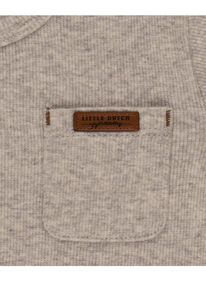 T-Shirt lange mouw - Grey Melange