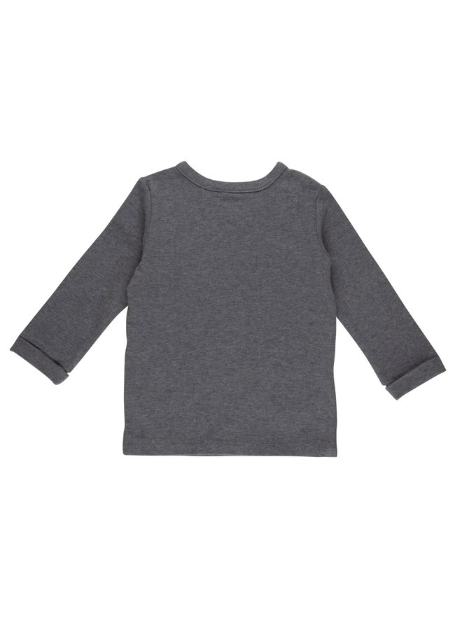 Overslag shirt - Blue Melange