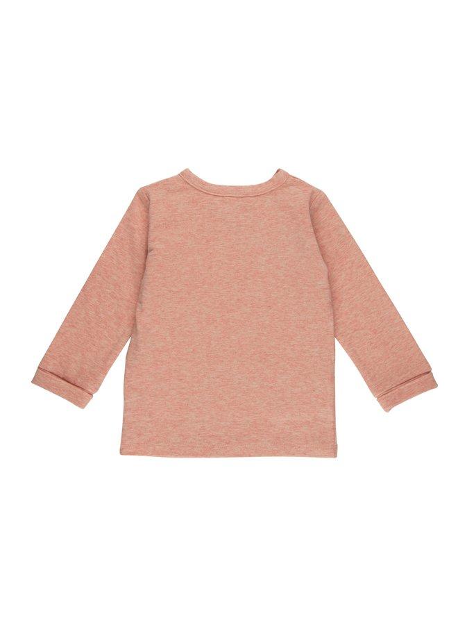 Overslag shirt - Pink Melange