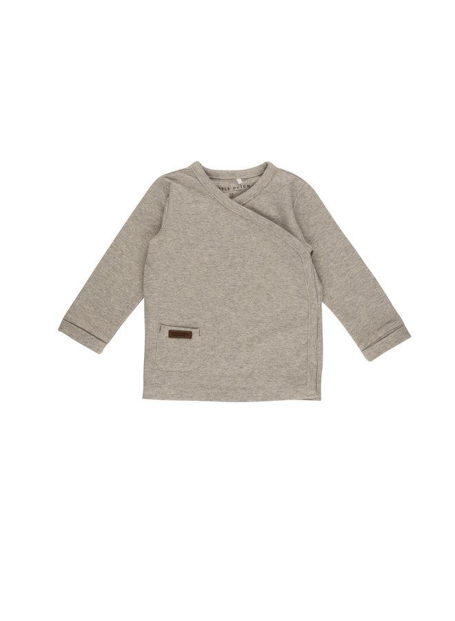Overslag shirt - Grey Melange