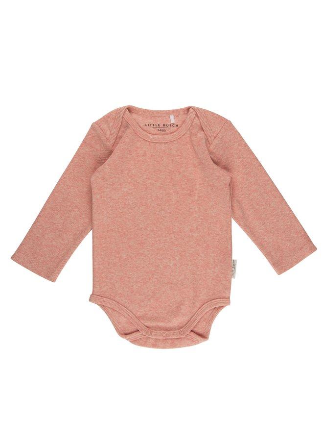 Romper lange mouw - Pink Melange