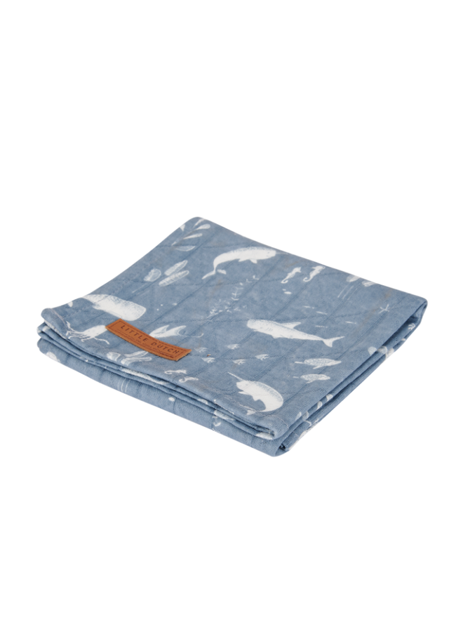 Swaddle Doek 120 x 120 - Ocean Blue