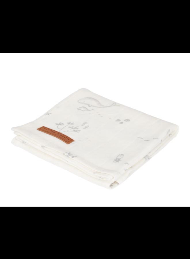 Swaddle Doek 120 x 120 - Ocean White